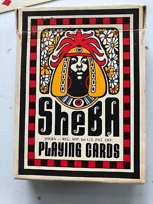sale! American SHEBA Playing Cards 1972 Black African Figure Designs Poker Size