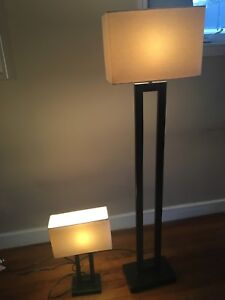 Marching Table Lamp and Floor Lamp