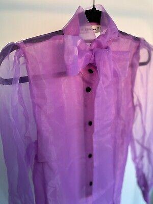 ZARA Sheer Lilac Blouse Size M