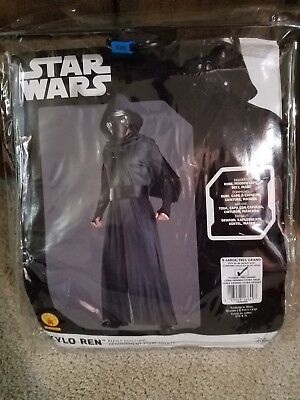 Kylo Ren Adult Men's Costume Star Wars The Force Awakens Hooded Cape Robe XL