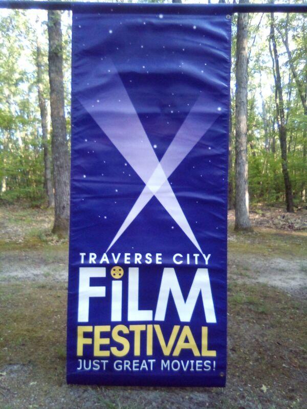Rare Michael Moore Traverse City Film Festival Canvas Street Banner 6