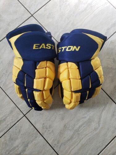 "New Team Sweden Patric Hornqvist Easton HSX pro stock hockey gloves, 14"""