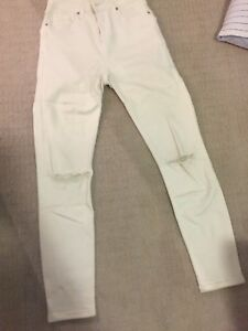 Topshop white petite jeans