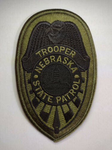 Nebraska State Patrol Tactical Subdued Trooper Patch /// FREE US SHIPPING!