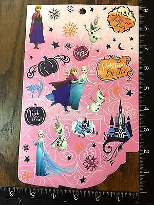 FROZEN HALLOWEEN BY DISNEY, ANNA, ELSA AND OLAF, ONE SHEET STICKERS #DULCE6 - Anna And Elsa Halloween