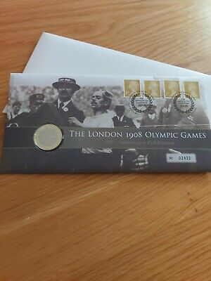 GB ROYAL MINT 2008 BU £2 COIN THE LONDON 1908 OLYMPIC GAMES 100 years Coin Cover