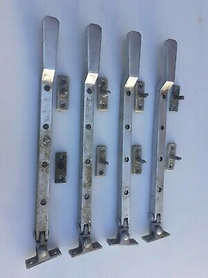 """POLISHED CHROME 10/""""//250mm Window Casement Stay Handle Pull Lock Catch Victorian"""