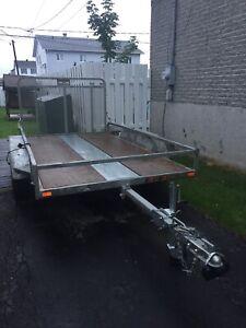 Remorque n&n galvanisé 2 essieux modèle t66x120