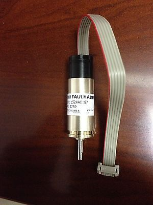 1524a0187 Faulhaber 12vdc Gear Motor W 2621 Gearhead 512 Count Encoder New