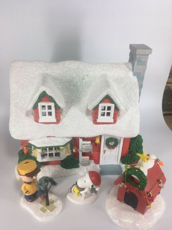 Peanuts Holiday Gift Set Department 56 Traditions Charlie Brown Snoopy Woodstoc