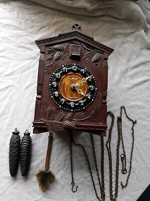 Vintage Russian Majak Mayak Cuckoo Wall Clock  For Restoration