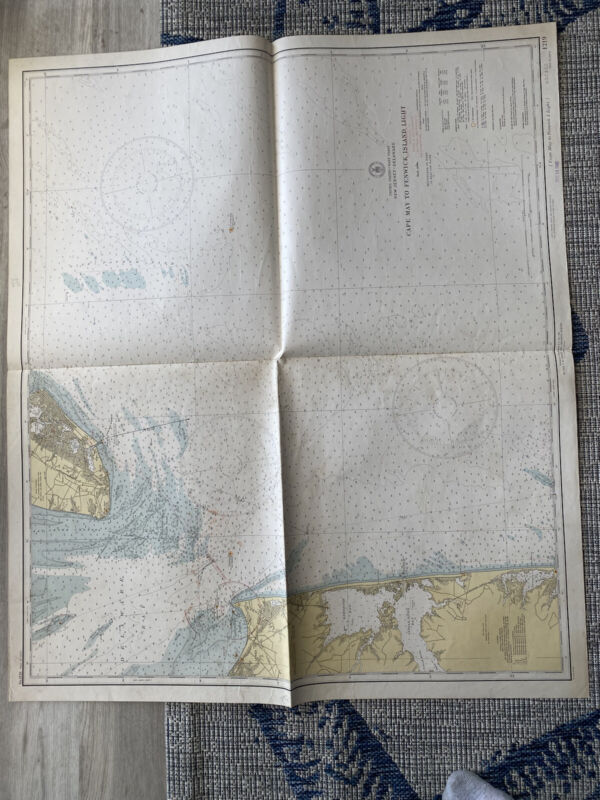 Original Nautical Chart Map Cape May to Fenwick island inlet 1219 Issued 1940
