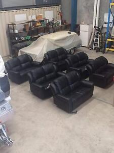 Black Leather Home Theatre Lounges - 2 seat full electric recline Yatala Gold Coast North Preview