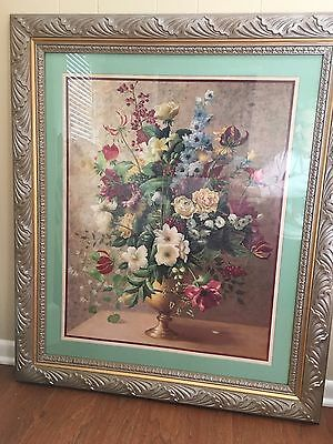 "Home Interior Rare Floral Vase Picture 40 1/2"" X 34 1/2"""