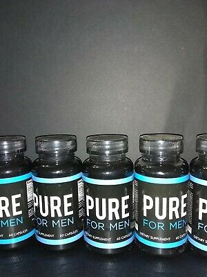 Pure For Men Dietary Fiber Supplement 60 Capsules Best By