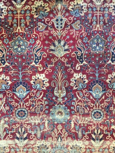 Fantastic Floral - 1900s Antique Oriental Rug - Handmade Carpet - 7.5 X 11 Ft
