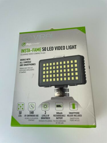 Digipower Insta-Fame Dimmable 50 LED Super Bright Video Light for Smartphone