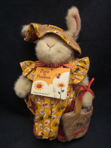 MUFFY VANDERBEAR Picnic in Provence 1999 Hoppy Dressed VINTAGE NEW TAG BAG