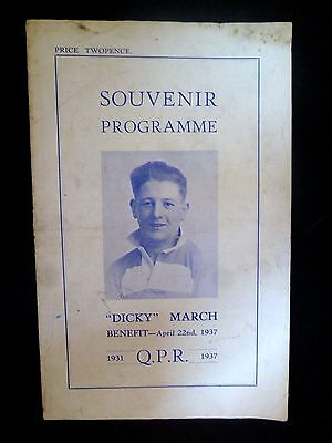 1936/37 QUEENS PARK RANGERS v BRENTFORD - DICKY MARCH TESTIMONIAL MATCH 22 APRIL