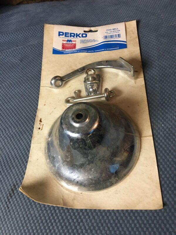 "Vintage PERKO 6"" NAUTICAL FOG BELL New Old Stock"