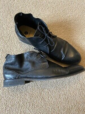H By Hudson Leather Black chukka Boots Size Uk 10, RRP £160