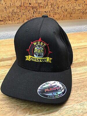 West COLTON Train Hat Cap Black -Safety First  - Flex Fit - SIZE S-M -   F3 3 Flex Fit Cap