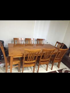 URGENT SALE!! 8 Seater Dining Table with Chairs Liverpool Liverpool Area Preview