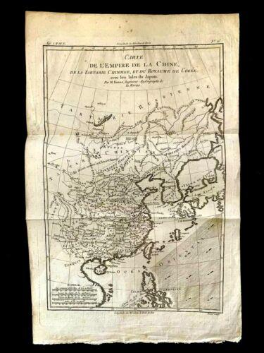 MAP OF EMPIRE OF CHINA: Tartary, Kingdom of Korea, Isles of Japan - 1788