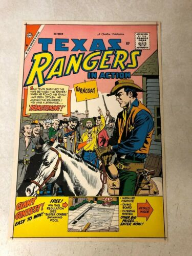 TEXAS RANGERS #18 Art Original Approval Cover Proof 1959 WESTERN GIORDANO