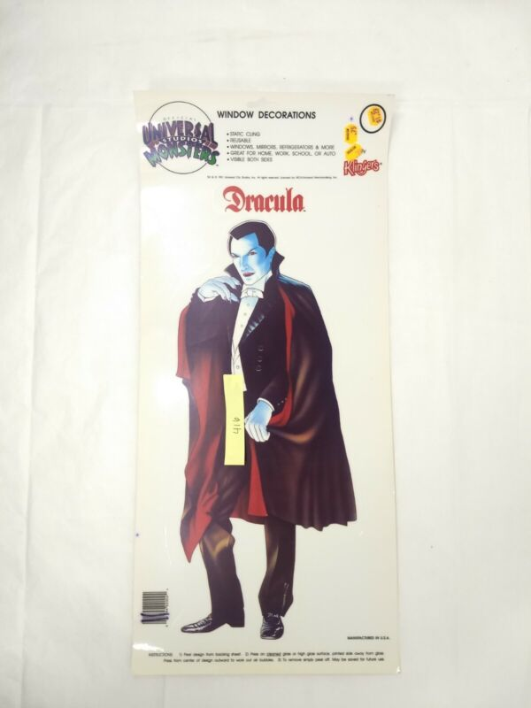 Rare vtg MONSTERS Universal Studios Window Cling: Dracula