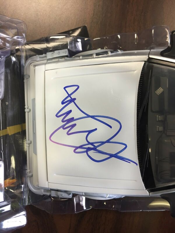 Michael J Fox Back to the Future 2 Autographed Signed Diecast Car JSA LOA COA