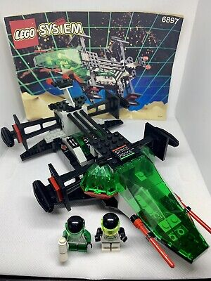 "GENUINE VINTAGE LEGO CLASSIC SPACE POLICE SET #6897 ""REBEL HUNTER"" 100% COMPLETE"