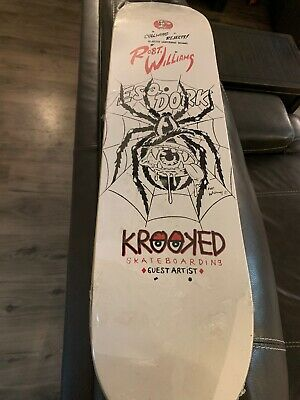 krooked skateboard Robert Williams art