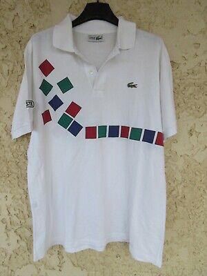 Polo lacoste devanlay henri leconte tennis vintage 1992 made in france coton 5