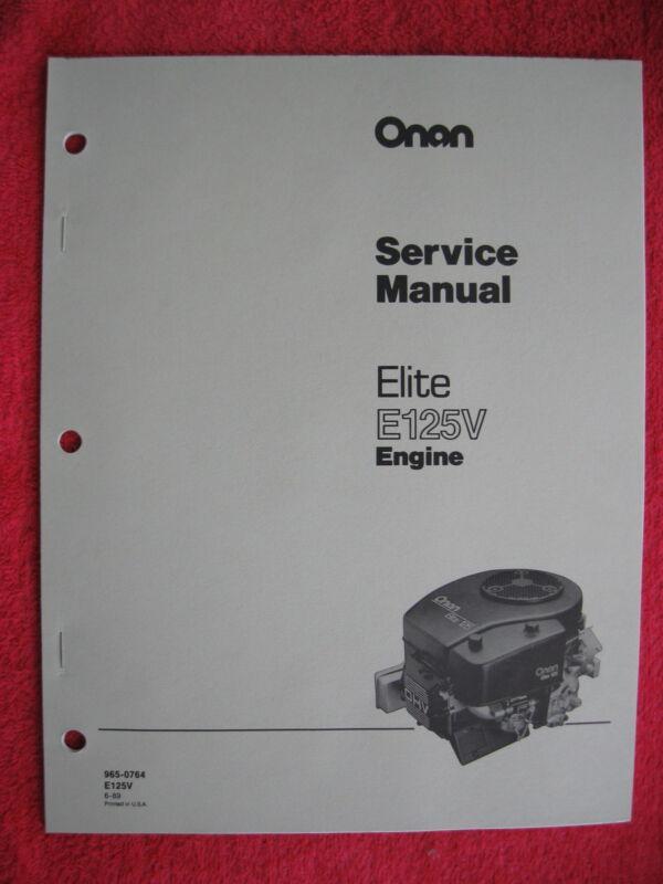 ONAN ELITE E125V ENGINE SERVICE MANUAL