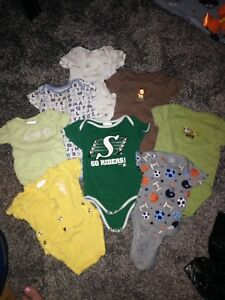 0-3 month old baby boy clothes clothing lot & swaddle sleep sack