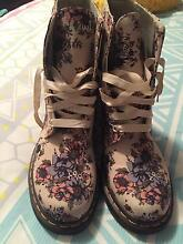FLORAL DOC MARTEN BOOTS SIZE 10 Clarkson Wanneroo Area Preview