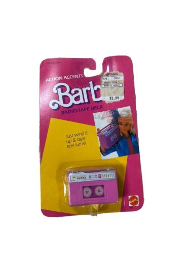 1986 barbie action accents wind up radio