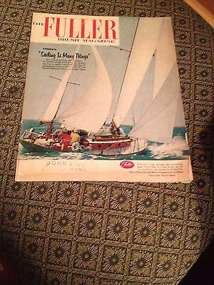 """The Fuller Brush Magazine """"Sailing is Many Things"""" (Howard Fuller) 1961 (Rare)"""