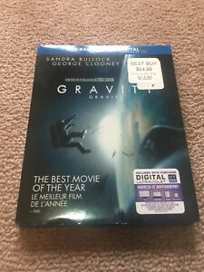 Gravity Blu-ray + DVD + digital ultraviolet, Mint condition