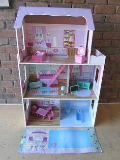 Large DOLLS HOUSE + FURNITURE As New - Westlakes SA