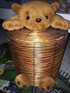 Wicker Bear Basket
