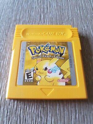 Pokémon Yellow Version: Special Pikachu Edition (Game Boy, 1999) *Authentic