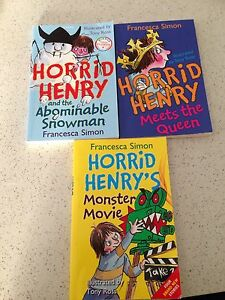 Trio of Horrid Henry Kids books Joondalup Joondalup Area Preview