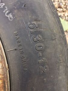 One 5.30-12 trailer tire.