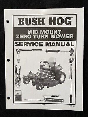 Bush Hog Mid Mount Zero Turn Mower Service Manual 897
