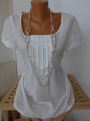 Sheego Blouse Shirt Taille 40 à 58 Manches courtes blanc//crème 084 avec dentelle NEUF