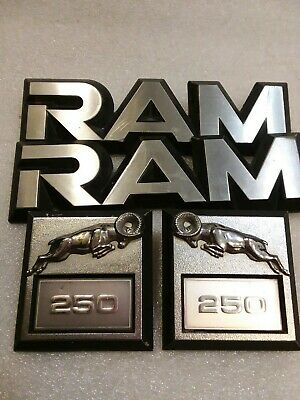 81-93 DODGE RAM 250 SIDE FENDER EMBLEM LOGO BADGE SIGN SYMBOL USED SET