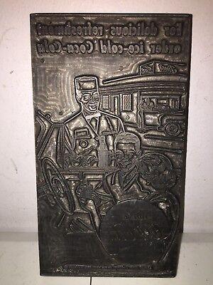 Antique Coca Cola Wood Printing Press Advertising Order Ice Cold Coca Cola