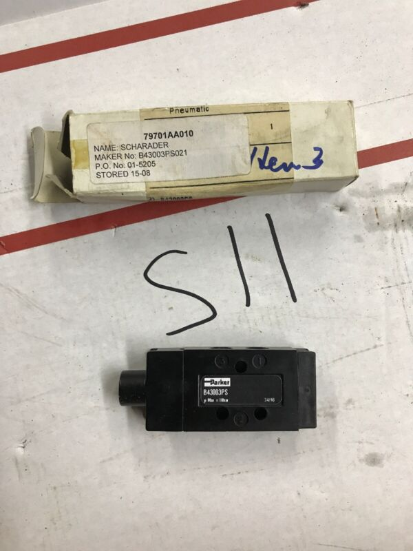 Parker B43003PS Pneumatic Control Valve - NIB